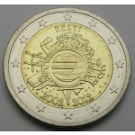 ESTONIJA 2€ 2012 10 LET EVRO GOTOVINE