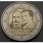 LUKSEMBURG 2€ 2020 - 200. obletnica rojstva princa Henrija