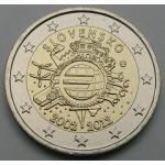 SLOVAŠKA 2€ 2012 10 LET EVRO GOTOVINE
