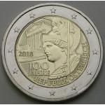 AVSTRIJA 2€ 2018 - 100 let Avstrijske Republike.