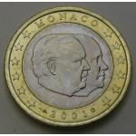 MONAKO 1€ 2001