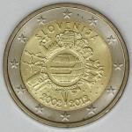 SLOVENIJA 2€ 2012 10 LET EVRO GOTOVINE